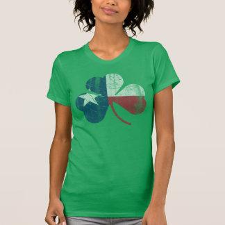 Irish Texas Flag Shamrock Vintage Fade T-Shirt