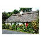 Irish Thatched cottage postcard