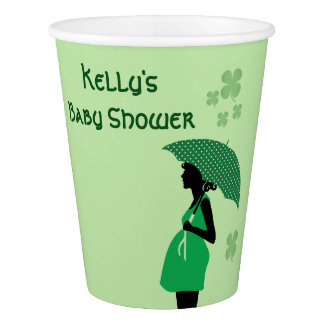 Irish theme baby bump cups