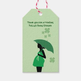 Irish theme baby bump gift tags personalized