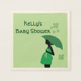 Irish theme baby bump personalized cocktail napkin disposable napkin