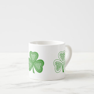 Irish Themed Celtic Knot Shamrocks Mug