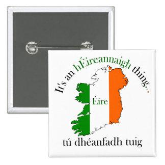 Irish Thing 2 Inch Square Button