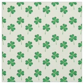 irish three leaves clover pattern fabric
