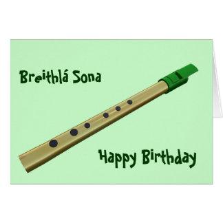 Irish Tin Whistle Birthday Card