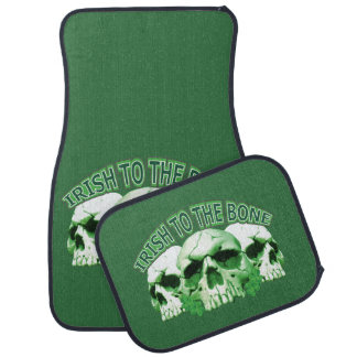 Irish to the Bone Skull Car Mat
