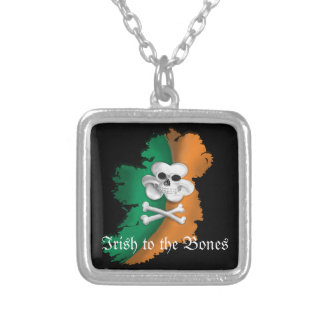 IRISH TO THE BONE, STERLING SILVER NECKLACE