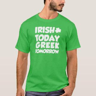Irish Today Greek Tomorrow (ON DARK) T-Shirt