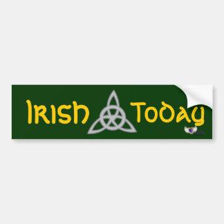 Irish Today  St. Patrick's Day  Bumper Sticker