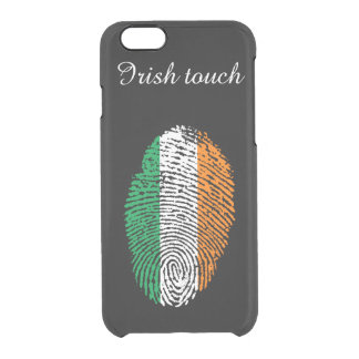 Irish touch fingerprint flag clear iPhone 6/6S case