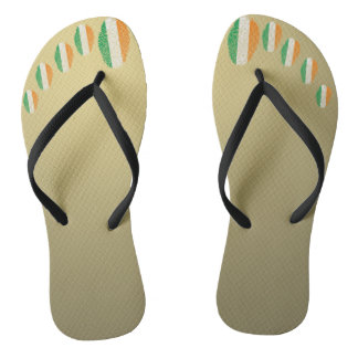Irish touch fingerprint flag flip flops