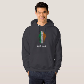 Irish touch fingerprint flag hoodie