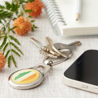 Irish touch fingerprint flag keychain