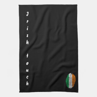 Irish touch fingerprint flag kitchen towel