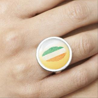 Irish touch fingerprint flag photo ring