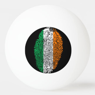 Irish touch fingerprint flag ping pong ball