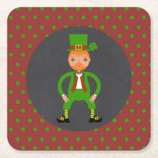 Irish Traditions Kids Birthday Party Square Paper Coaster