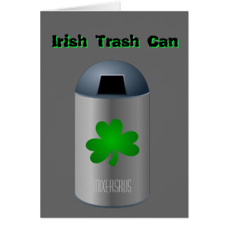 Irish Trash Can Drink Recipe Greeting Card