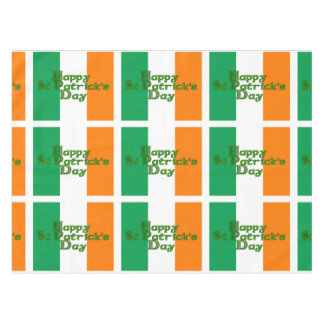 Irish Tricolor St Patrick's Day Tablecloth