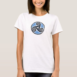 Irish Triskele, Triskelion-Womens T-Shirt