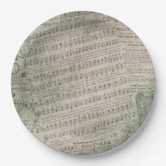Irish Vintage Sheet Music, Wearing of the Green Paper Plate