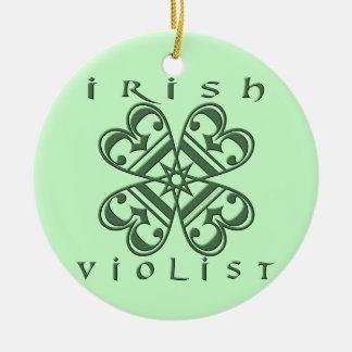 Irish Violist Ceramic Ornament