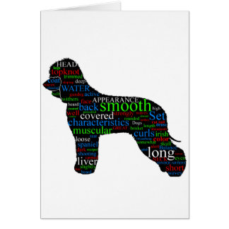 Irish Water Spaniel Card