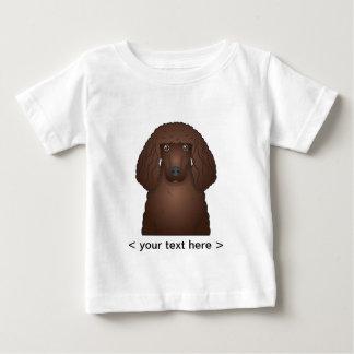Irish Water Spaniel Cartoon Personalized Baby T-Shirt