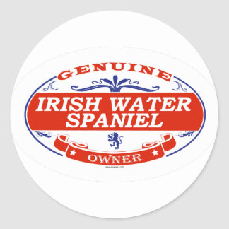 Irish Water Spaniel  Classic Round Sticker