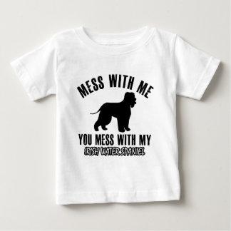 irish water spaniel design baby T-Shirt