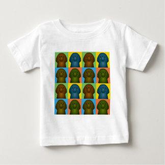 Irish Water Spaniel Dog Cartoon Pop-Art Baby T-Shirt
