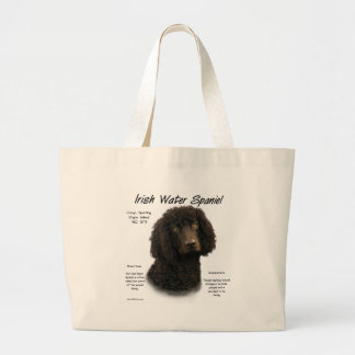 Irish Water Spaniel History Design Large Tote Bag