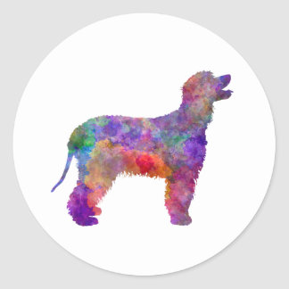 Irish Water Spaniel in watercolor 2 Classic Round Sticker