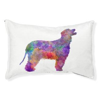 Irish Water Spaniel in watercolor 2 Pet Bed