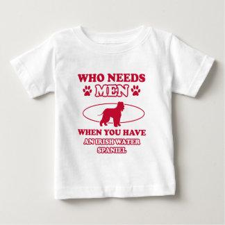 irish water spaniel mommy design baby T-Shirt
