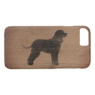 Irish Water Spaniel Silhouette Rustic Case-Mate iPhone Case