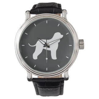 Irish Water Spaniel Silhouette Watch