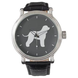 Irish Water Spaniel Silhouette Wristwatch