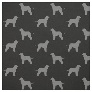 Irish Water Spaniel Silhouettes Pattern Fabric