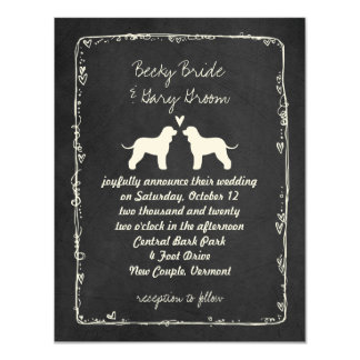 Irish Water Spaniel Silhouettes Wedding Date Card