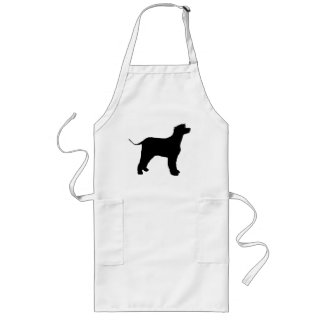 irish water spaniel silo black long apron