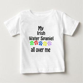 Irish Water Spaniel Walks Design Baby T-Shirt