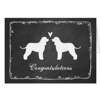 Irish Water Spaniels Wedding Congratulations Card