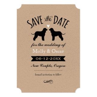 Irish Water Spaniels Wedding Save the Date Card