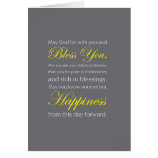 Irish Wedding Blessing Card