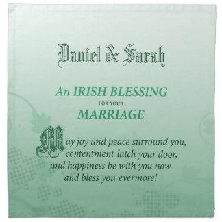Irish Wedding Congratulations Blessing Napkin