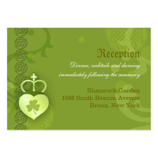 Irish Wedding Reception Enclosure Cards (3.5x2.5) Business Card Template
