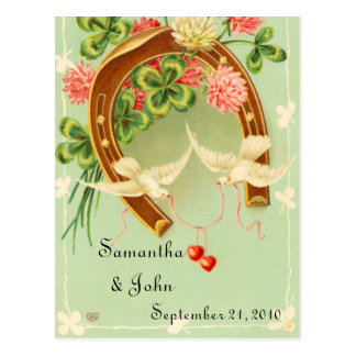 Irish Wedding Save the Date Postcard