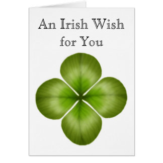 Irish Wish for You Clover Card