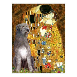 Irish Woldhound 1 - The Kiss Postcard